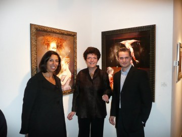 Shana, Anne and Adam at Weinstein Gallery